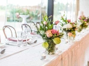 wedding venue with florals
