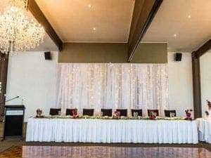 wedding venue with a bridal table
