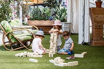 Kids Playing Jenga Games