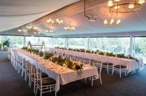 garden marquee wedding venue space
