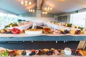 wedding with cheese station