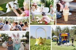 Easter fun day at Victoria Park collage