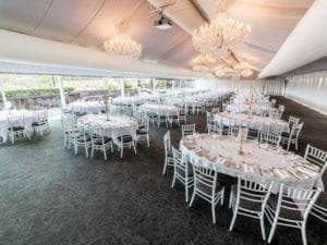 Function room with styling marquee