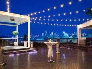 function venue with city views marquee
