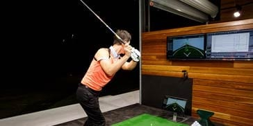 Golf swing in a lesson