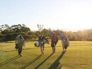 golf group walking on course