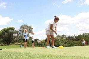 womens ladies golf lesson